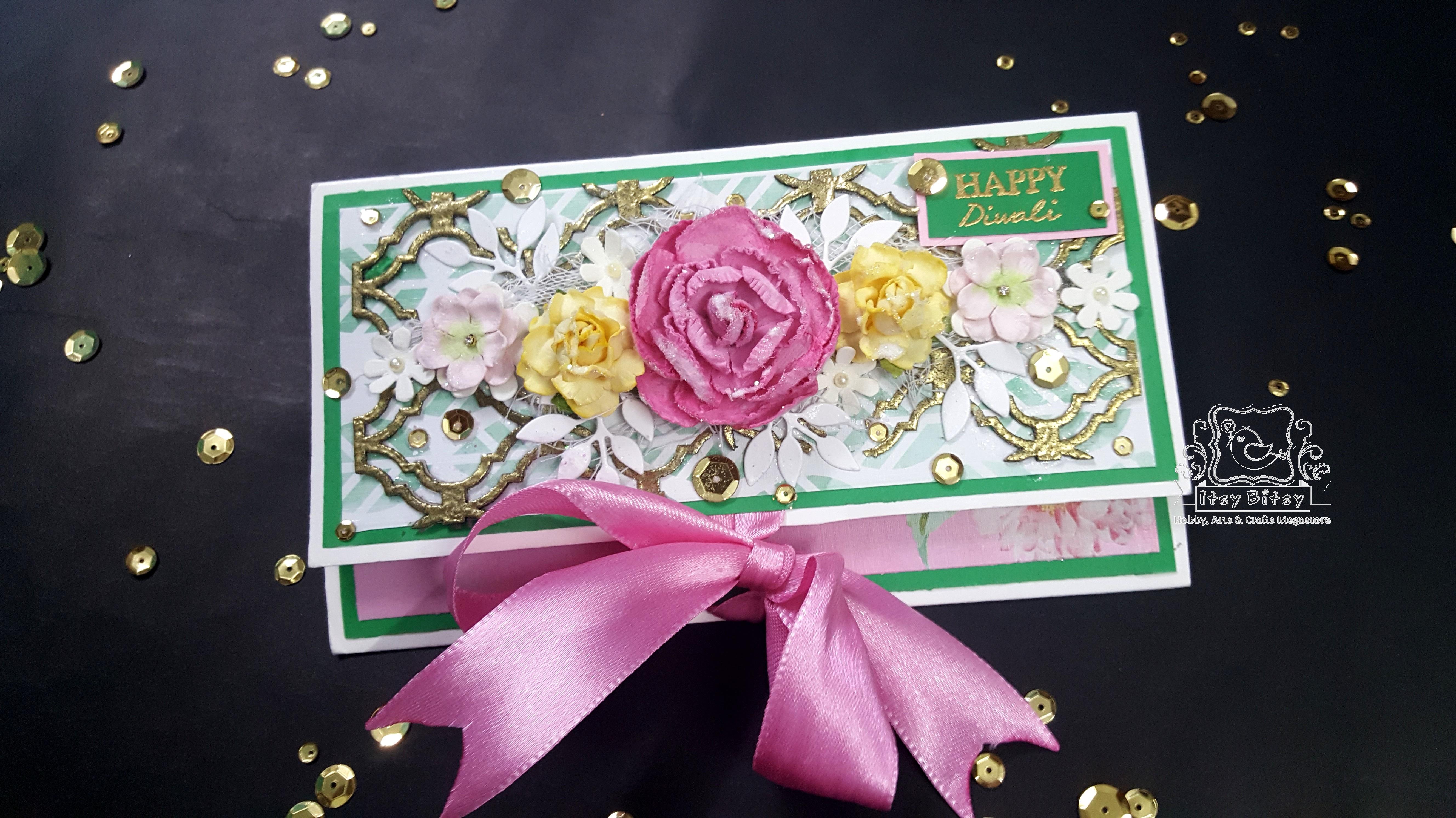 Happy Diwali Tri Fold Money Envelope